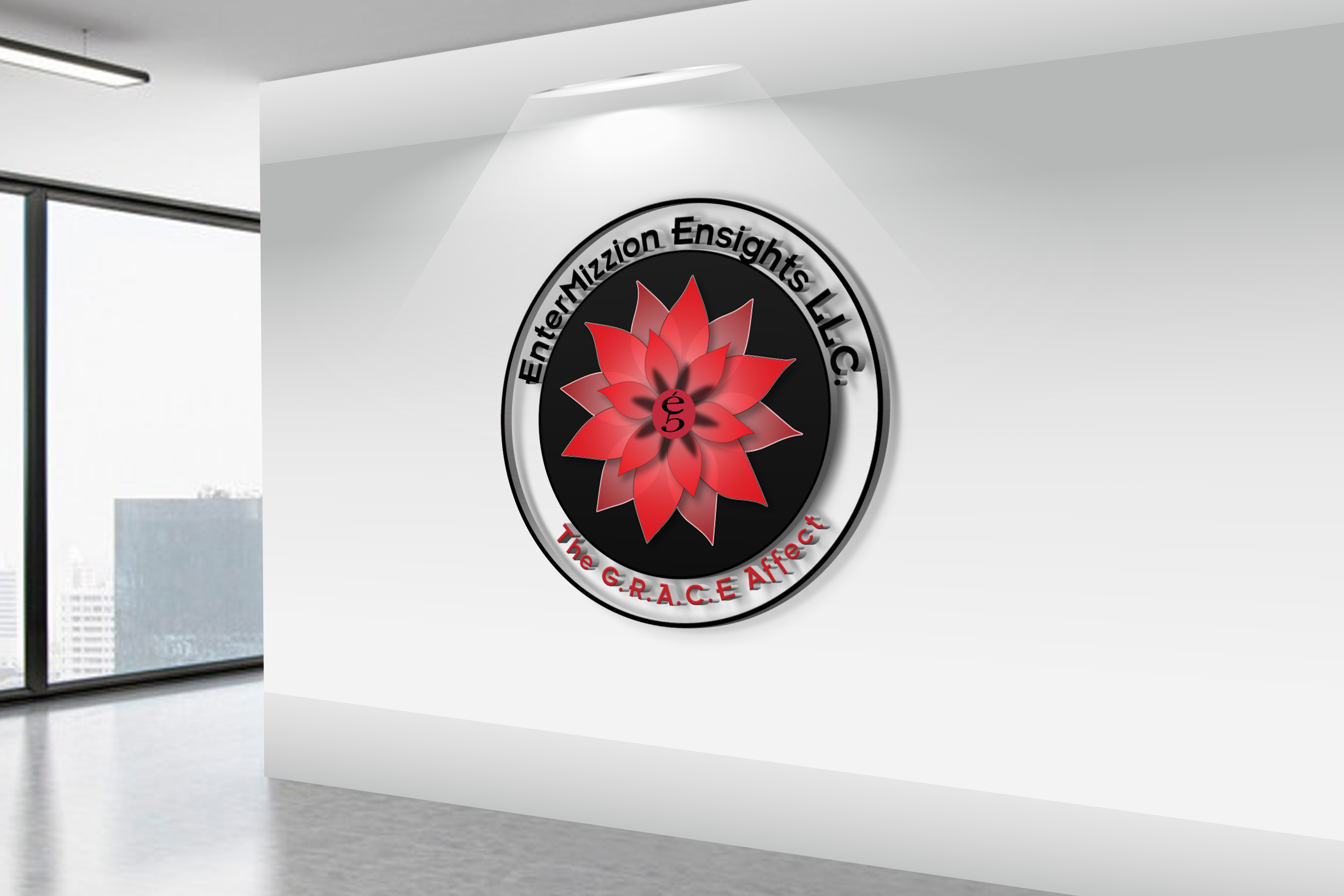 Free Realistic 3D Wall Logo MockUp